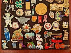 100+ Pins Set Lot In Original Hard Rock Cafe New Display Box Great For Gift