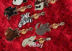 12 Hard Rock Cafe PINS Animal Head Guitar COMPLETE SET online panda zebra lion