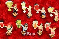12 Hard Rock Cafe PINS Set Online DRINK GIRL le100 glass up bartender server lot