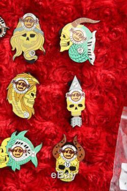 12 Hard Rock Cafe Pins SET BRUSSELS Zodiac SKULL Series Astrology calendar lot