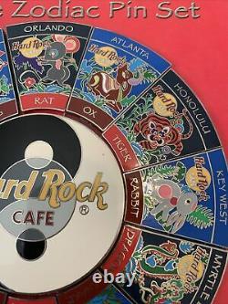 2001 Hard Rock Cafe Zodiac Pin Set Of 13 With Yin Yang Center 5000 LE Set Rare