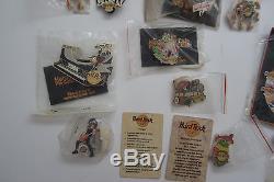 2004 Lot of 83 Series Hard Rock Cafe Pins Collector Las Vegas Guitar Sport