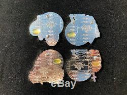 2005 Hard Rock Cafe Japan KISS Pin Complete Set Of 4