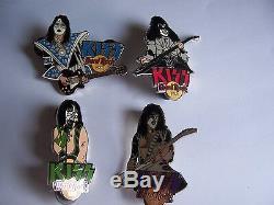 2005 Kiss Jam Series Hard Rock Cafe Pin Set L. E. 200 Rare stick pick