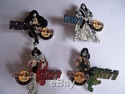 2005 Kiss Las Vegas Series Hard Rock Cafe Pin Set L. E. 300 Rare stick pick