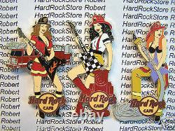 2013 Hard Rock Online Sexy Firefighter Girls Complete (3) Pin Set Le100