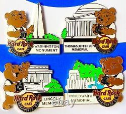 2014 Hard Rock Cafe Washington DC National Park Bear Series Complete (4) Pin Set