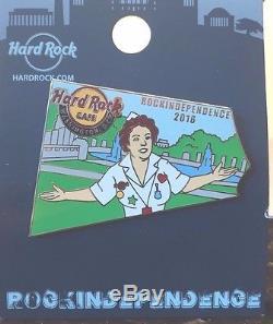 2016 Hard Rock Cafe Washington DC Rockindependence Rita/monuments (7) Pin Set