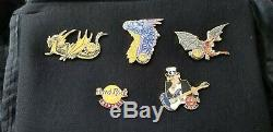 2019 HARD ROCK CAFE DRAGON SERIES GAME OF THRONES COMP (3) PIN SET + 2 extra lot