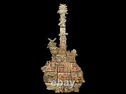 2021 Hard Rock Cafe 3d 50th Anniversary Guitar Puzzle Series Complete 15 Pin Set