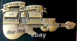 2021 Hard Rock Cafe New York 3D 50TH Jubiläum 50 Jahre Jumbo Gitarre Le 50 Pin