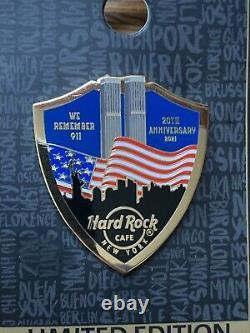 2021 Hard Rock Cafe New York 9/11 World Trade Center 20th Anniversary Le Pin