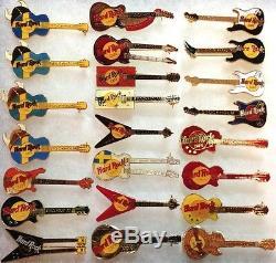23 Hard Rock Cafe STOCKHOLM 1990s GUITAR PIN Collection LOT HRC HTF Rares
