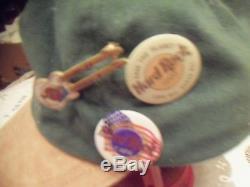 2 Hats Plus 18 Hard Rock Cafe Pins. London 2 Osaka Wash D. C. 50th 9 Guitars