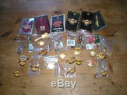 33 Hard Rock Cafe badges pins (inc Tokyo Osaka Koln Dubai Buenos Aires Rome)