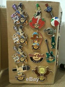 3 Hard Rock Cafe GRAND OPENING Seoul Staff Pins 2014 and other pins