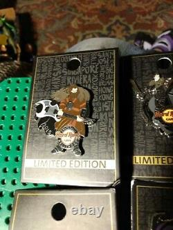 4 Different Hard Rock Cafe Hollywood Swaparazzi Pins Warrior Dragon Horse Lot