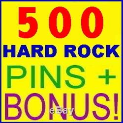 500 PINS! Hard Rock Cafe HUGE Pin Collection BIG LOT Wholesale Deal