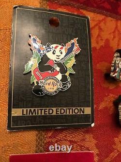 6 Hard Rock Cafe WASHINGTON DC PINS ALL Pandas Patriotics/POWith150 Visits VHTF