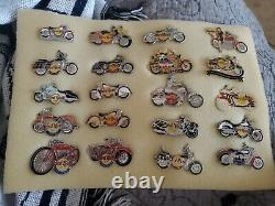 ALL MOTORCYCLE / BIKER EDITIONS Hard Rock Cafe 20 Pin Collector Set RARE
