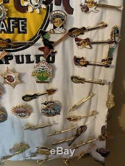 Amazing Collection Hard Rock Cafe Pins 100 Plus Pin Pinback Collectible
