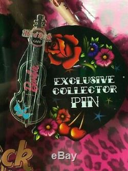 BARBIE 2009 Hard Rock Cafe Barbie Rockabilly Gold Label Collector Pin 50th N6606