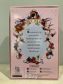 BARBIE 2009 Hard Rock Cafe Barbie Rockabilly RARE Gold Label N6606 with Pin