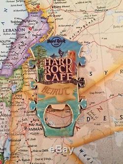 BEIRUT LEBANON HARD Rock CAFE CLOSED HRC GUITAR HEAD METAL MAGNET OPENER