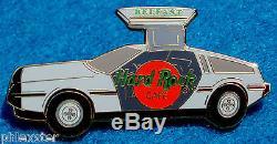 BELFAST DMC-12 DeLOREAN GULL-WING BACK TO THE FUTURE CAR Hard Rock Cafe PIN LE