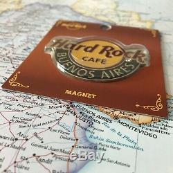BUENOS AIRES ARGENTINAHard Rock CafeHRCCLASSIC LOGO SOUVENIR METAL MAGNET