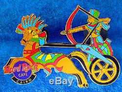 CAIRO ANCIENT EGYPTIAN PHARAOH ARCHER WAR CHARIOT & HORSE Hard Rock Cafe PIN LE