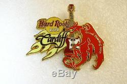 CARDIFF, Hard Rock Cafe Pin, GRAND OPENING CLOSED VHTF