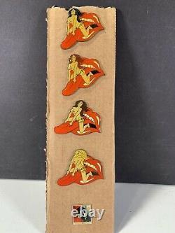Collection Hard Rock Cafe Rolling Stones Pins Black Blonde Brunette Red Head EUC