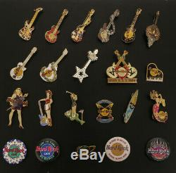 Collection of Hard Rock Cafe Collector Pins Never Worn Excellent Condition