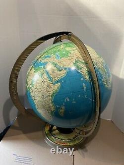 Crams Deluxe Globe Sun Rays 1950s Physical Terrestrial 16