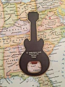 DESTIN USA Hard Rock Cafe CLOSED HRC GUITAR METAL MAGNET Bottle Opener