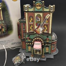 Dept 56 Hard Rock Cafe Snow Village Signed with Pin 55324 Retired