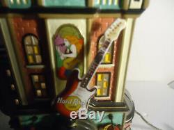 Dept 56 Hard Rock Cafe withCollector Pin plus nice 5 piece bonus