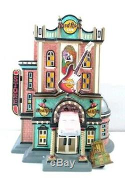 Dept 56-Original Snow Village collection- Hard Rock Cafe #55324 With Pin