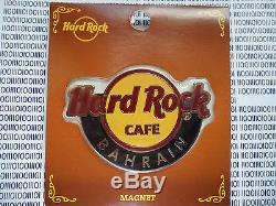 HARD ROCK CAFE BAHRAIN CLASSIC CITY LOGO FRIDGE MAGNET (not bottle opener)