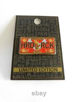 HARD ROCK CAFE HONG KONG LICENSE PLATE HRC SERIES PIN (Missing letter A)