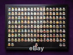 HARD ROCK CAFE Icon Series 2015 PIN COLLECTION Incl. Frame