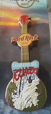HARD ROCK CAFE Iguazu Core City T V15 Guitar THE NEVER OPENED CAFE LAST PIN