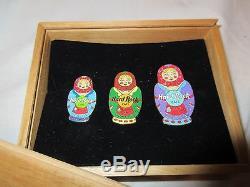 HARD ROCK CAFE MOSCOW GRAND OPENING SET MOSCOW 3 X Matryoshka Doll Nesting Style