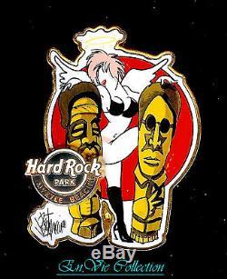 HARD ROCK PARK FRAMED ART & PIN Rocksie Paradise RARE
