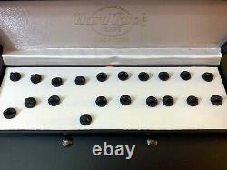 Hard Rock CAFE CANCUN GUITAR PIN Set of 10 Boxed Set Rare, 300 LE