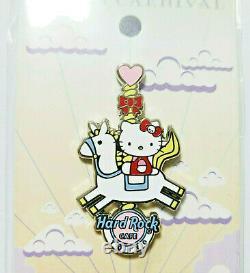 Hard Rock CAFE Hello Kitty Pin Badge 2020 Dream Carnival SANRIO White Horse