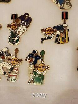 Hard Rock Cafe 16 Pin Collection Limited 300 2005 Football Opening Day Guitars