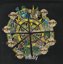 Hard Rock Cafe 2005 Mexico Aztec Calendar Pins Set 8 Cafes