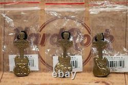 Hard Rock Cafe 2008 3D Pin Set Monuments Brass LE 50/ea NIB Ultra Rare